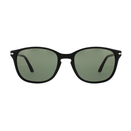 Classic Square Sunglasses // Black + Green