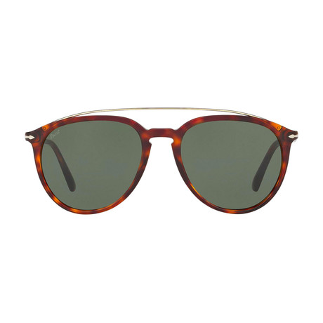 Metal Bridge Sunglasses // Havana + Green