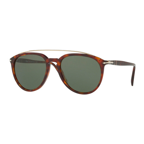 Persol Men's Metal Bridge Sunglasses // Havana + Green