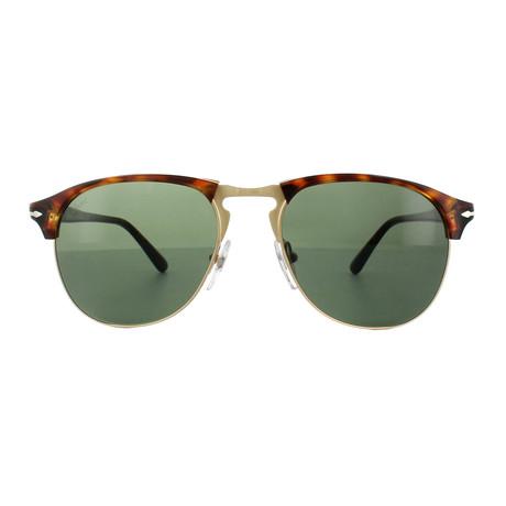 Persol Clubmaster Sunglasses // Dark Havana + Grey