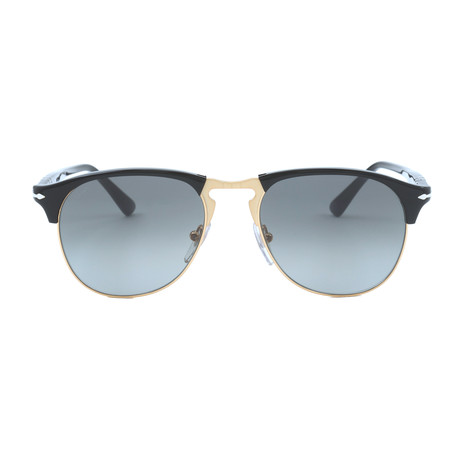 Persol Clubmaster Sunglasses // Black + Grey Gradient