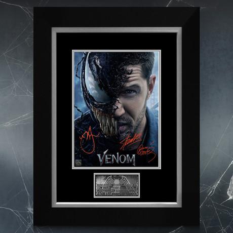 Venom // Tom Hardy, Woody Harrelson + Stan Lee Signed Mini Poster // Custom Frame