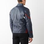 Captain America Leather Jacket // Blue (XL)