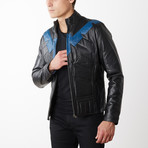 Nightwing Padded Leather Jacket // Black (XL)