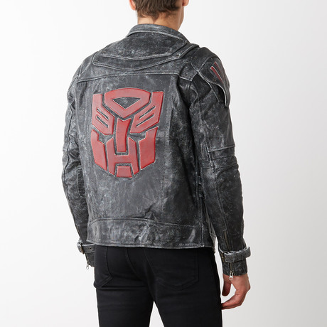 Transformers Autobots Leather Jacket // Gray (XS)