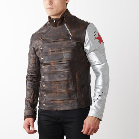 Winter Soldier Goatskin Jacket // Weathered Brown (XS)