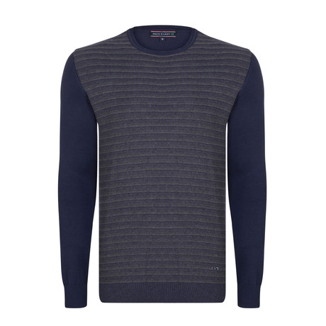 Kenneth Pullover // Navy + Gray (XS)