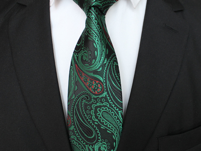 Blanc Vibrant Silk Ties Handmade Neck Tie // Forest Green by Touch Of Modern - Denver Outlet