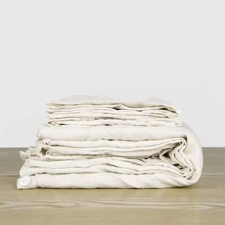 Bedding Set // Cream (Duvet Set // Full/Queen)