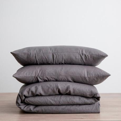 Bedding Set // Slate (Duvet Set // Full/Queen)