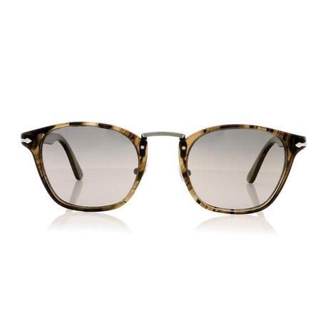 Persol // Acetate + Metal Sunglasses // Black + Grey Polarized
