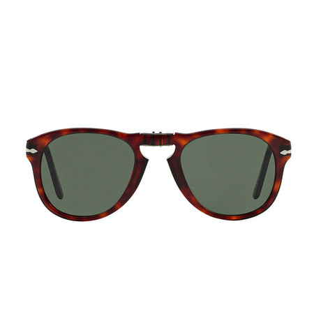 Men's 714 Iconic Folding Sunglasses // Havana + Green (54mm)