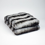 "Chinchilla Luxe Throw/Blanket // Smokey Gray (50""L x 65""W)"