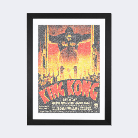 "King Kong (French Market Movie Poster) // Robotic Ewe (24""W x 16""H x 1""D)"
