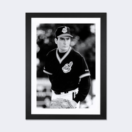 Charlie Sheen Wearing A Baseball Uniform // Globe Photos, Inc.