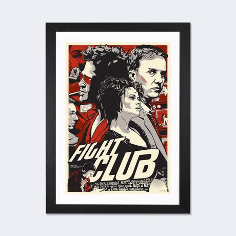 """Fight Club // Joshua Budich (24""""W x 16""""H x 1""""D)"""