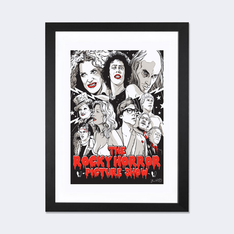 "The Rocky Horror Picture Show // Joshua Budich (24""W x 16""H x 1""D)"