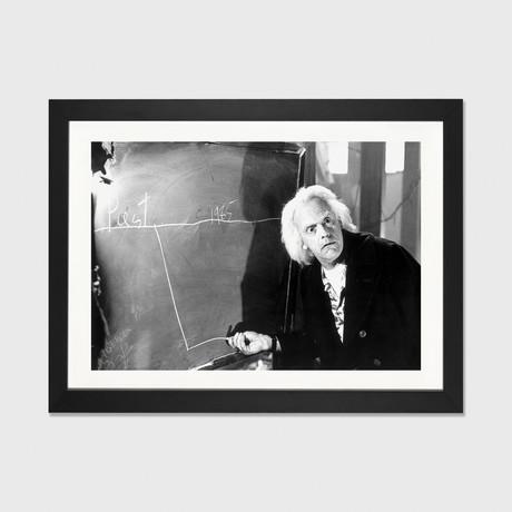 "Christopher Lloyd With A Chalkboard // Movie Star News (16""W x 24""H x 1""D)"