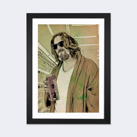 "The Big Lebowski: Jeffrey 'The Dude' Lebowski // Giuseppe Cristiano (24""W x 16""H x 1""D)"