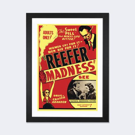 "Reefer Madness Film Poster // Radio Days (24""W x 16""H x 1""D)"
