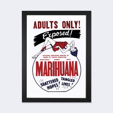"Marihuana Film Poster I // Radio Days (24""W x 16""H x 1""D)"