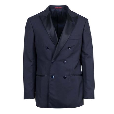 Brunello Cucinelli // Cashmere Blend Db Tuxedo Sport Coat // Blue (Euro: 48)