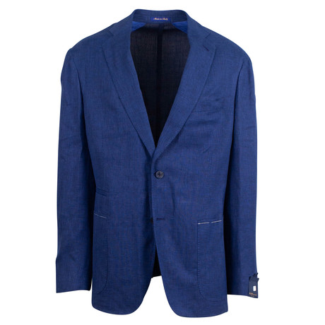 Pal Zileri Sartoriale Blue Label // 2 Button Sport Coat // Deep Blue // Free Kiton Pocket Square (Euro: 46)