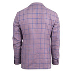 Pal Zileri Sartoriale Blue Label // Windowpane Wool Sport Coat // Purple // Free Kiton Pocket Square (Euro: 46)