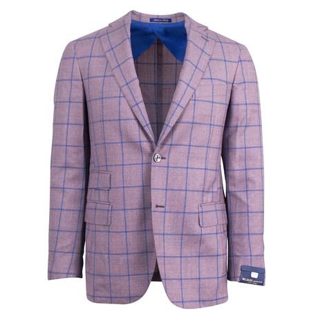 Pal Zileri Sartoriale Blue Label // Windowpane Wool Sport Coat // Purple // Free Kiton Pocket Square (Euro: 46)