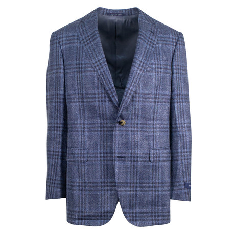 Pal Zileri Sartoriale // Label 2 Button Sport Coat // Blue + Free Kiton Pocket Square (Euro: 46)