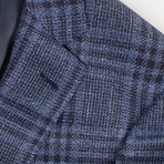 Pal Zileri Sartoriale // Label 2 Button Sport Coat // Blue + Free Kiton Pocket Square (Euro: 52)
