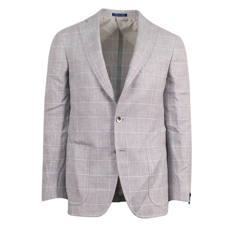 Pal Zileri Sartoriale Blue Label // 3 Roll 2 Sport Coat // Beige // Free Kiton Pocket Square (US: 48R)