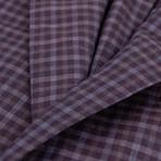 Pal Zileri Sartoriale Blue Label // Check Sport Coat // Purple + Free Kiton Pocket Square (Euro: 50)