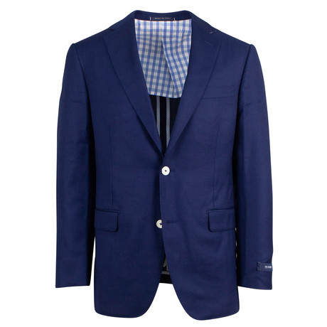 Pal Zileri Sartoriale Blue Label // Wool 2 Button Sport Coat // Blue + Free Kiton Pocket Square (Euro: 46)