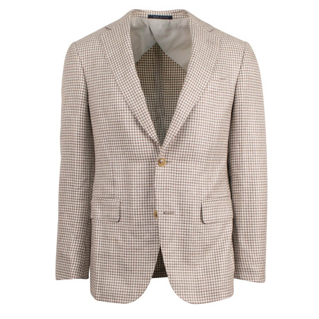 Pal Zileri // Woven Linen Blend 2 Button Sport Coat // Beige // Free Kiton Pocket Square (US: 48R)