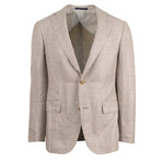 Pal Zileri // Woven Linen Blend 2 Button Sport Coat // Beige // Free Kiton Pocket Square (Euro: 46)
