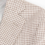 Pal Zileri // Woven Linen Blend 2 Button Sport Coat // Beige // Free Kiton Pocket Square (Euro: 50)