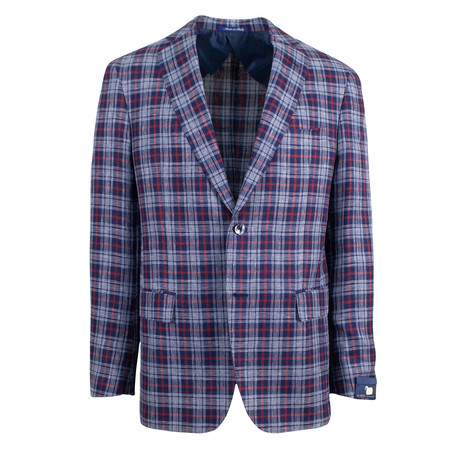 Pal Zileri Sartoriale Blue Label // 2 Button Sport Coat // Blue + Free Kiton Pocket Square (Euro: 46)