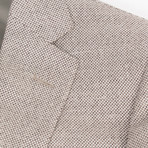 Pal Zileri // Woven Wool Blend 2 Button Sport Coat // Beige + Free Kiton Pocket Square (Euro: 46)