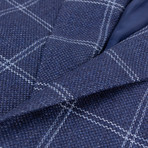 Pal Zileri Sartoriale Blue Label // 2 Button Windowpane Sport Coat // Blue // Free Kiton Pocket Square (Euro: 52)