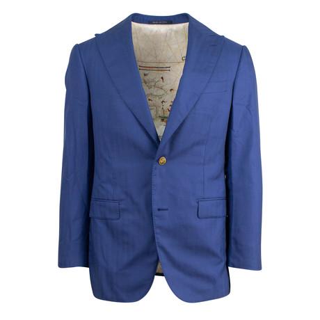 Pal Zileri Sartoriale Blue Label // 2 Button Drop 6 Sport Coat // Blue + Free Kiton Pocket Square (Euro: 46)