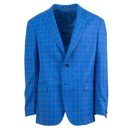 Pal Zileri Sartoriale Blue Label // 2 Button Sport Coat // Bright Blue + Free Kiton Pocket Square (Euro: 46)