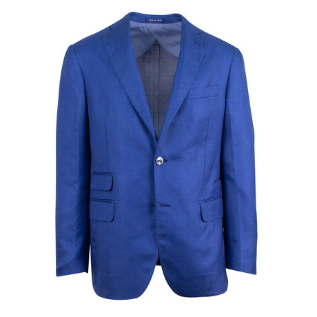 Pal Zileri Sartoriale Blue Label // 2 Button Sport Coat // Royal Blue + Free Kiton Pocket Square (Euro: 46)