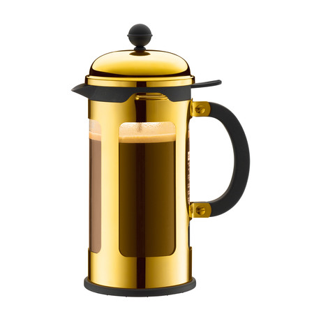 Chambord French Press Coffee Maker + Locking Lid // Gold