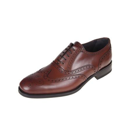 Lino Brogue Shoe // Tan (Euro: 40)