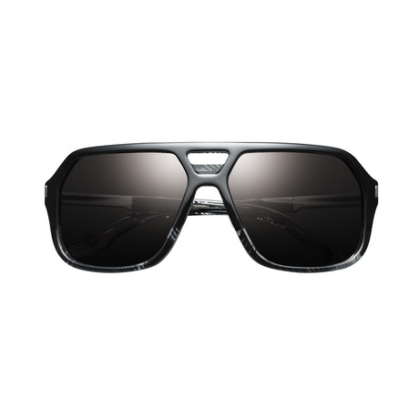 Hunter // Polished Dazzle // Gunmetal + Grey Lens
