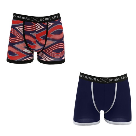 Sentry Moisture Wicking Boxer Brief // Red + Blue // Pack of 2 (S)
