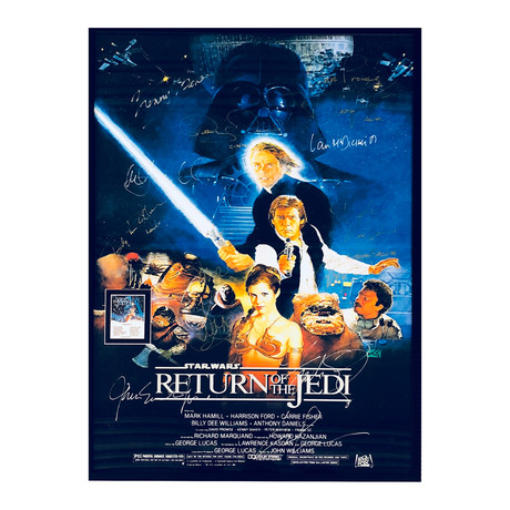 Signed Movie Poster // Star Wars Episode Vi: Return Of The Jedi