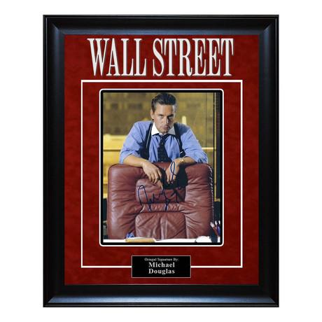 Framed Autographed Arist Series  // Wall Street // Michael Douglas