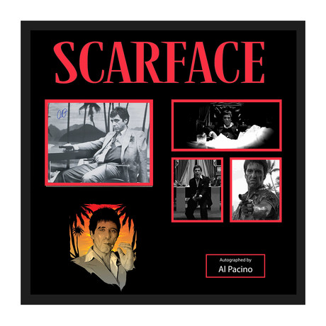 Signed Movie Collage //  Scarface // Al Pacino